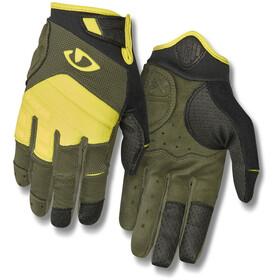 Giro Xen Handschoenen Heren, olijf/geel